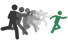 символ бега гонки людей человека руководств руководителя Стоковые Фото