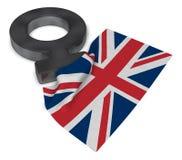 Символ Венеры и флаг Великобритании Стоковое фото RF