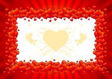 символ влюбленности сердца Иллюстрация штока