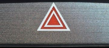 Символ внутреннего автомобиля красный и белый опасности Стоковое Изображение