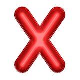 Символ воздушного шара фольги шаржа Реалистическая иллюстрация 3d Вечеринка по случаю дня рождения, дети party, событие детского  Стоковая Фотография RF
