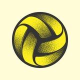Символ волейбола желтый стоковая фотография rf