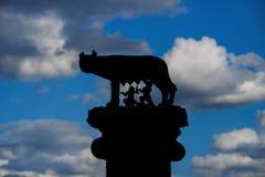 Символ волка Capitoline Рима Стоковые Изображения RF