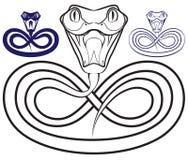 Символ года - змейки. Раскройте venomous челюсти Стоковые Фотографии RF