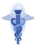 символ грека caduceus Стоковые Фото