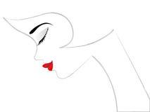 символ девушки иллюстрация штока