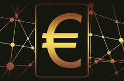 Символ денег евро иллюстрация вектора