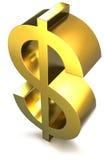 символ доллара золотистый иллюстрация вектора