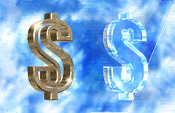 символ доллара Стоковое фото RF