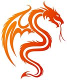 Символ дракона Стоковые Фото