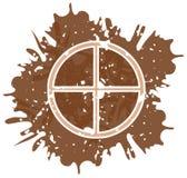 Символ земли сделанный при изолированные пятна бесплатная иллюстрация