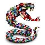 Символ змейки опасности медицины Стоковые Изображения RF