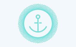 Символ знака значка вектора анкера Иллюстрация штока