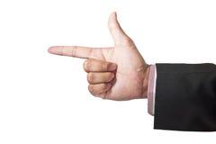 символ знака руки Стоковые Изображения RF