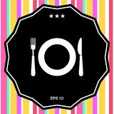 Символ значка ресторана Стоковое Изображение RF