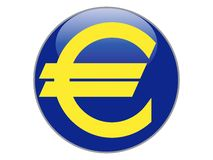 Символ золота евро на сини бесплатная иллюстрация