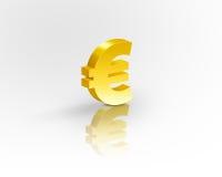 символ золота евро Стоковая Фотография