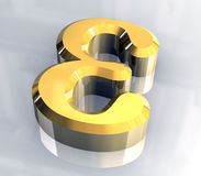 символ золота эпсилона 3d Стоковое Фото