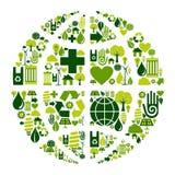 символ икон глобуса земли относящий к окружающей среде иллюстрация штока