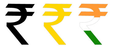символ индийской рупии стоковые фотографии rf