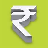 символ индийской рупии Стоковое Фото