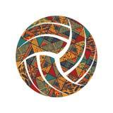 Символ картины волейбола стоковые фотографии rf