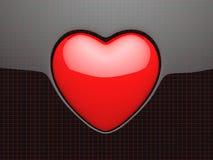 символ красного цвета влюбленности Стоковые Изображения