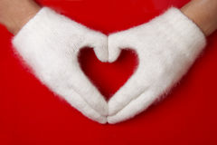символ красного цвета сердца Стоковая Фотография