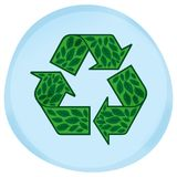 символ листьев eco Стоковое Фото