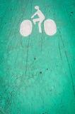 Символ майны велосипеда на том основании. Стоковое Изображение RF