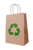 символ мешка коричневый экологический бумажный рециркулируя Стоковые Изображения