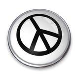 символ мира кнопки 3d Стоковые Изображения