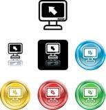 символ монитора иконы компьютера Стоковые Фотографии RF