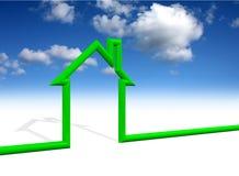 символ неба дома предпосылки Стоковые Изображения