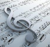 символ нотации clef диаграммы Стоковое Изображение RF