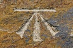 Символ отметки уровня стоковые фото