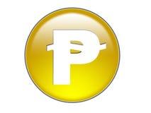 символ песо дег кнопки стеклянный Стоковое Изображение RF
