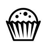 Символ пирожного черный Стоковые Фотографии RF