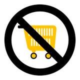 Символ покупок запрета иллюстрация штока