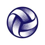 Символ полутонового изображения волейбола стоковые фотографии rf