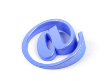 символ почты e иллюстрация штока