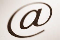 символ почты e Стоковые Фотографии RF