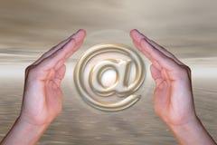 символ почты e Стоковая Фотография RF