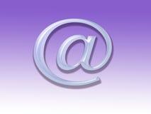 символ почты e Стоковое Фото
