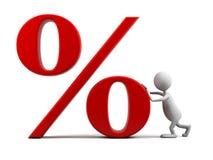 символ процентов человека шаржа 3d бесплатная иллюстрация