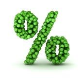 символ процентов яблок алфавита зеленый Стоковые Изображения RF