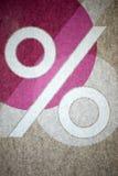 символ процентов Стоковая Фотография RF
