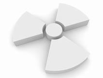 символ радиоактивности иллюстрация вектора