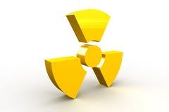 символ радиоактивности Стоковое фото RF