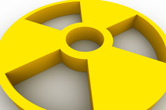 символ радиоактивности Стоковая Фотография RF